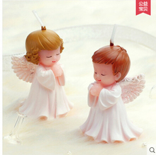 Boy and girl angels fondant molds,Baby angel silicone mold soap,candle moulds,sugar craft tools,cake decoration moulds(China)