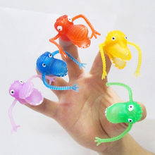 10 pieces/lot random colors Novel plastic finger puppet story Mini dinosaur toys with small finger Gashapon toys mu992267(China)