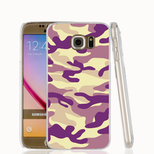 21457 purple military camouflage cell phone case cover for Samsung Galaxy S7 edge PLUS S6 S5 S4 S3 MINI