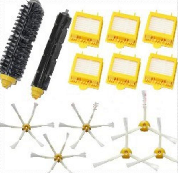 6 Hepa Filter +Flexible Beater Bristle Brush kit + 6 side brush kit for iRobot Roomba 700 Series 770 780 790 aspirador accessory<br><br>Aliexpress