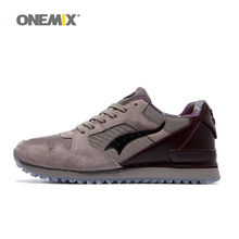 2016 Onemix men retro sport running shoes cheap portable shoes for walking sneaker slow running shoes outdoor athletic shoe(China)