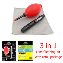 Optiklean Genuine 3 in 1 Camera Lens Pen Camera cleanerLens Cleaning Kit Lens Brushes for Camera Lenses & Filters Cleaning Pen