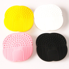 MOONBIFFY Silicone Cleaning Cosmetic Make Up Washing Brush Gel Cleaner Scrubber Tool Foundation Makeup Cleaning Mat Pad Tool