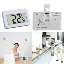 Mini LCD Digital Thermometer Refrigerator Temperature Meter Indoor Electronic Temperature Meter W/ Magnet Hook(China)