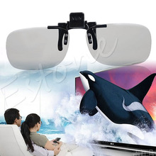 1 PC Clip On type Passive Circular Polarized 3D Glasses Clip for 3D TV Movie(China)