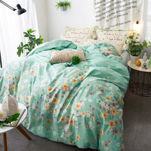 Arnigu Colorful plum flower green Bedclothes Twin Queen Double size Cotton Bedding set Blanket/Duvet cover Bed sheet pillowcase