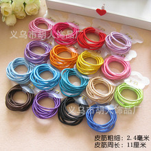 2014 fashion hair ring Colored Adults Children universal rubber band mixing Hair Accessories for hair 100Pcs/Lot(China)