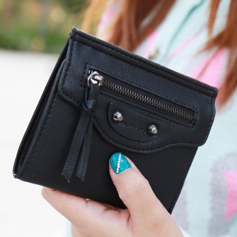 Fashion Mini Zipper Women Wallet Lady Thin  Crdeit Card Holder Carteira Feminina Money Purse<br><br>Aliexpress