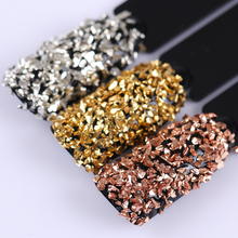 3g/Box Metal Effect Nail Sequins Powder Dust Shining Gold/Silver/Champagne Nail Glitter Tips Manicure Nail Art Decoration