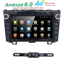 latest 2Din 4G WIFI BT SWC Android6.0 Car Stereo Radio for CRV stereo Player GPS Navi HeadUnit for Honda CR-V DVR reverse camera(China)