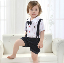 2016 Summer 2 pcs Set Baby Boy Suit Kids Boutique Clothes Bulk Cheap Price Clothing for Boys Age New Born 2 3 4T Years Old Boys