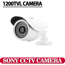 "Free shipping 2016 NEW 1/3"" SONY CCD HD 1200TVL Waterproof Outdoor security camera IR 100 meter CCTV Camera System(China)"
