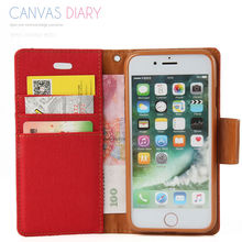 For Apple iPhone 7 mobile casing,wallet card slot pu leather holder with fashion design for iPhone 7 flip cover(China)