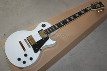 Hot Sale LP 1960s white color lp Custom electric guitar ebony fingerboard gold hardware Custom Exclusive real guitar pics