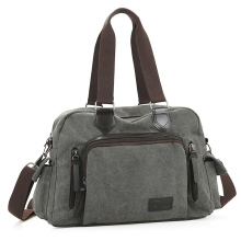 Men Travel Bag Solid Travel Duffle Vintage  Leather Canvas Large Capacity Women Luggage Bags