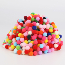 Buy 500pcs Approx 8mm Pom pom Multi Color Pompom Fur Craft DIY Soft Ponpons Wedding Decoration/Sewing Cloth Accessories for $1.50 in AliExpress store