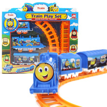 Hot Interesting Children Toy Train Assembling Track Train Model Children Intelligence Education Toy Train Model Toy(China)