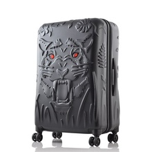 Tiger head printing rolling luggage  spinner Suitcase trolley box caster 19/25/29 inch boarding luggage