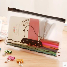 F49 1X Kawaii Clear Chicken Pen Bag Pencil Holder Storage School Supplies Stationery Cosmetic Case Makeup Storage Phone Bag(China)