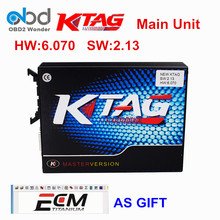 Top Selling KTAG ECU Chip Tuning K TAG V6.070 V2.13 Main Unit Master Version For Car Truck KTAG ECU Programming Tool ECM As Gift
