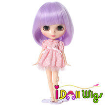 Hot Sale Purple Soft Synthetic Lavender Bly the Pullip Baby Doll Wigs
