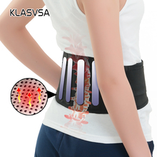 1piece Self-heating With 4 Plate Magnetic Tourmaline Belt For The Back With Waist Ceinture Tourmaline Support Brace Massager(China)