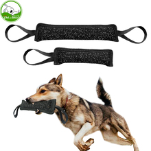 Dog Training Bite Tugs Puppy Chewing Training Aid Police K9 Schutzhund Tug Pet Interactive Play Toy Bite Suit Fabric(China)