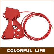 Grip Type Universal Cable Locks , gate valve Lock/ Diameter (3mm)  Safety Cable System Lockouts,Industrial safety locks