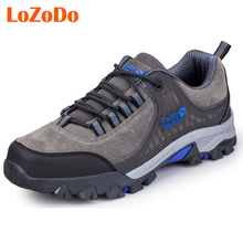 Plus Size 39-48 Autumn Winter Warm Hiking Shoes Men Leather Trekking Hiking Boots Mountain Climbing Shoe Men Athletic Sneakers