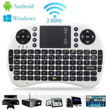 Russian/Spanish/Arabic English Multi-touch i8 Mini Keyboard 2.4G Wireless Gaming Air Fly Mouse For Android TV Box