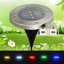 4pcs Solar Powered 3Led Waterproof Buried Solar Light Landscape Lighting Underground Light Outdoor Solar Lamp Garden Decoration(China)