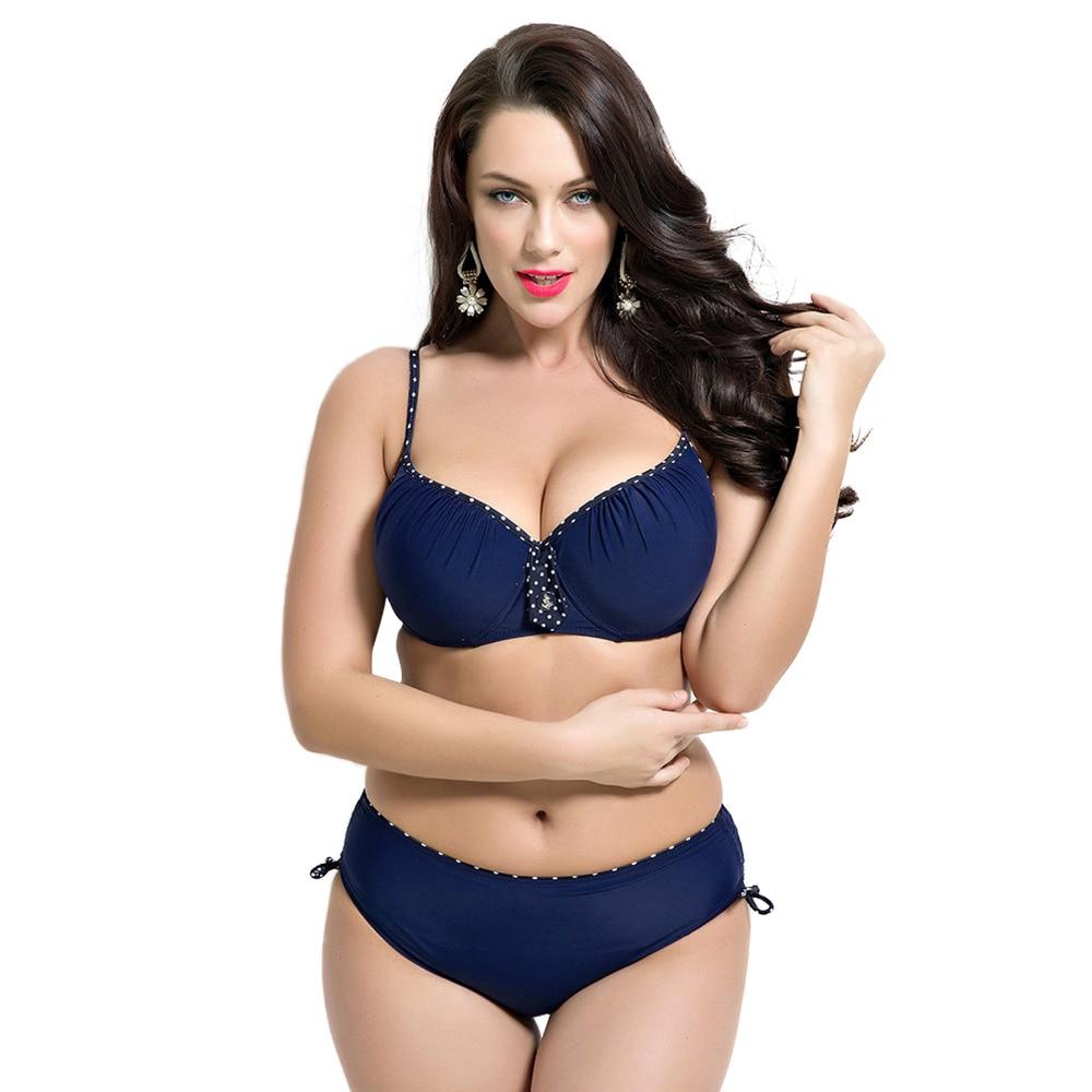 2017 Summer Womens Sexy Push Up Plus Size Bikini Set Low Waist and Strapyy Padded Solid Blue Beach Swimwear Bathing Suit F1684<br><br>Aliexpress