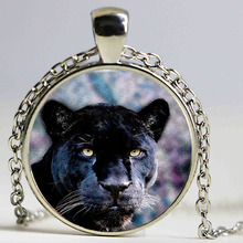 New Fashion Black Panther Logo Pendant Necklace Vintage Chain Choker Statement Necklace Jewelry Art of Necklace
