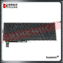 New A1286 Russian Keyboard For Macbook Pro Laptop A1286 RU Language Layout Keyboards 2009 2010 2011 2012 Replacement Tested