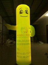 New Style Advertising Lighting inflatable Pathfinder Model /Inflatable AD column For Store Promotion(China)
