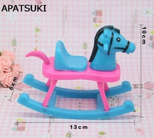 Kids Toy Playhouse Doll Accesorries Blue Hobbyhorse For Barbie Doll House For 1/12 Kelly Dolls Accessories