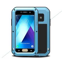 For galaxy A3 A5 2017 LOVE MEI Extreme 360 protection life Waterproof Dropproof Metal case For Samsung A320/A520 powerful cover(China)