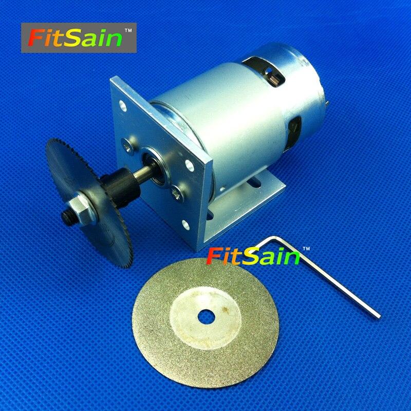 FitSain-DC24V 8000rpm Mini circular saw cutting saw cutting machine 50mm saw blade Diamond grinding wheel<br>