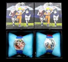 More Style Japen Cartoon Movie Animal NARUTO Watch Blood Theme Action Figure Toys Watches Birthday Party Decoration Kids Gift
