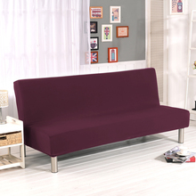 Sofa Tight Wrap All-inclusive Slip-resistant Elastic Stretch Furniture Slipcovers Couch Cover No Armrest Folding Sofa Bed Cover(China)