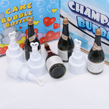 48pcs Mini Champagne Bubbles Wedding Party Decorations Love Heart Cake Shape Bottles Happy Birthday Festival Celebration Favors