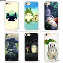 BiNFUL My Neighbor Totoro Studio Ghibli Cut Hard Transparent Phone Case Cover Coque for Apple iPhone 4 4s 5 5s SE 5C 6 6s 7 Plus(China)