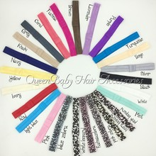 50pcs/lot   4/5 Inch Headbands  Solid Colored Elastic Headband  Hair Acessory
