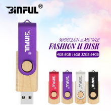 Free shipping fashion pen drive 32GB rotation wooden usb flash drive 4GB 8GB 16GB U disk Pendrive 64GB 128GB memory stick(China)