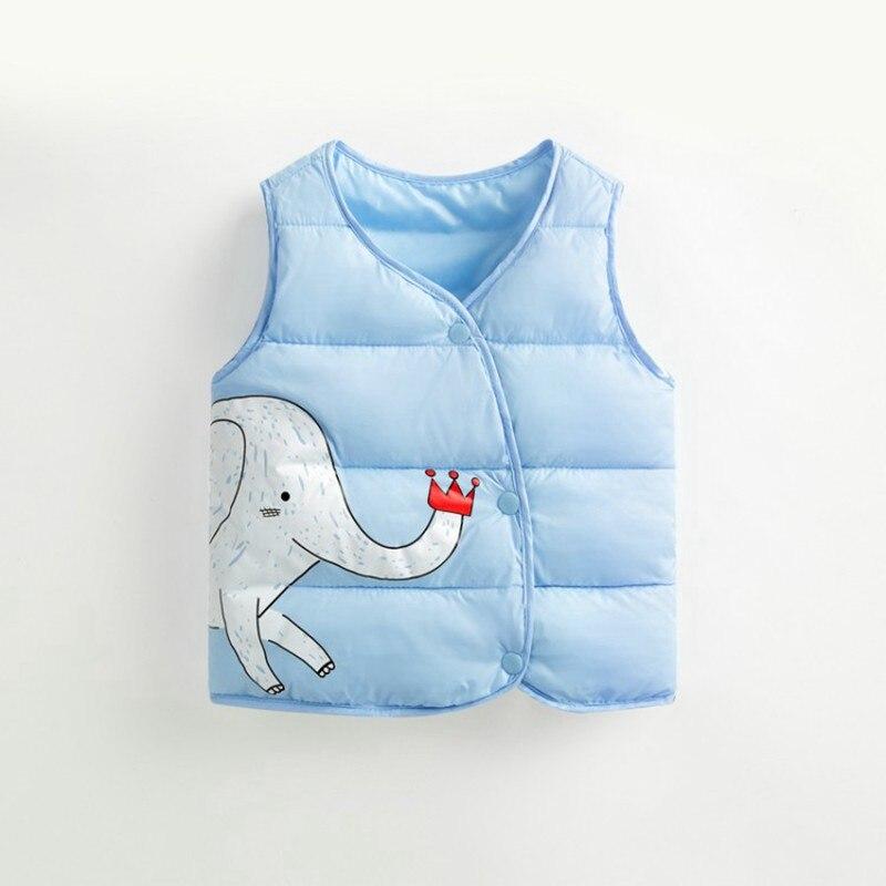 CROAL CHERIE Cotton Baby Girls Boys Winter Vest For Kids 2018 Kawaii Elephant Printing Waistcoat Children Boys Clothes 80-130cm (7)