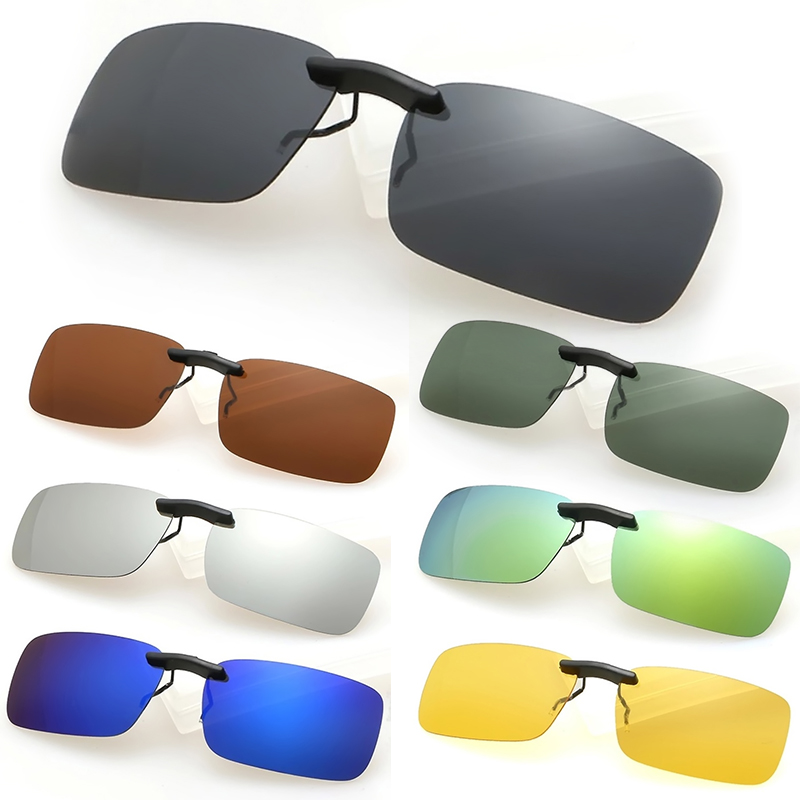 New Polarized Day Night Vision Clip-on Driving Lens Glasses Sunglasses