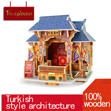 Cool Wooden Jigsaw 3D Wooden Puzzle House Building Toys Kids Chalets Wood Toys for children Gift