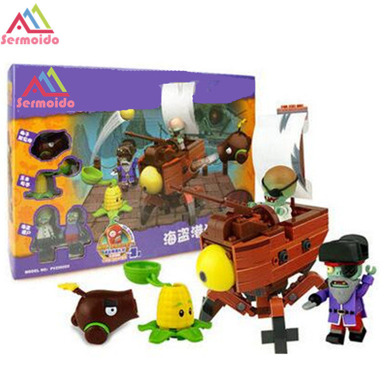 2017 New Plants Vs Zombies Struck Game Building Blocks Toys For Children Gift B12<br>