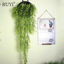 Hanging Plant Real Touch Willow Artificial Plant Wall Home Decoration Balcony Decorattion Flower Basket Accessories(China)