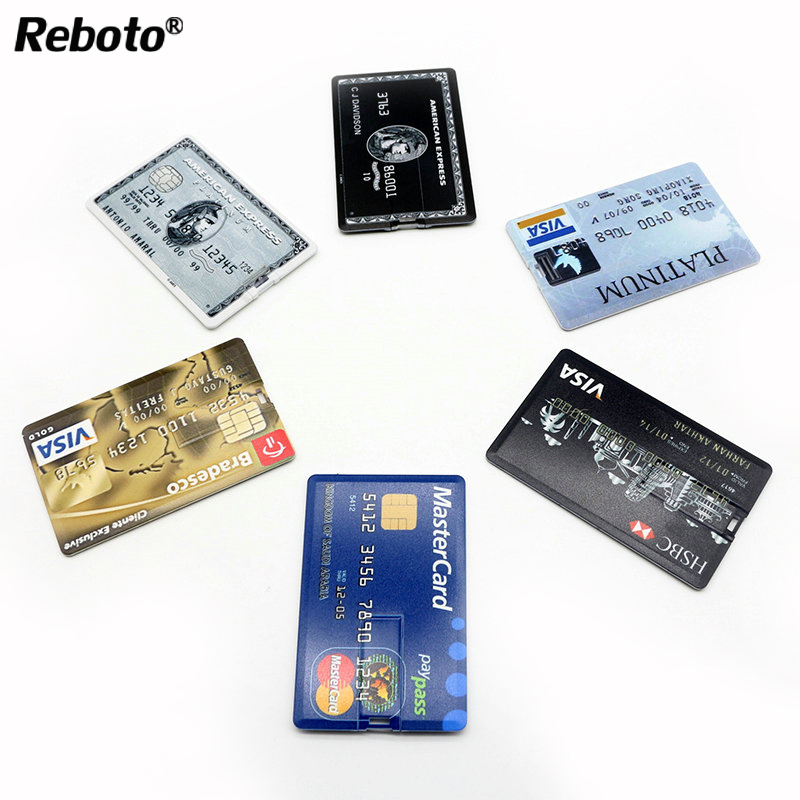 Top 64gb USB memory stick 32gb pendrive country Bank Credit Card Shape USB Flash Drive Pen drive 4gb 8gb 16gb u disk(China (Mainland))